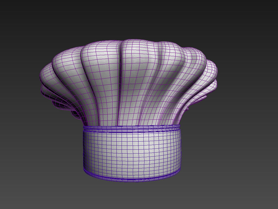 Chef hat royalty-free 3d model - Preview no. 10