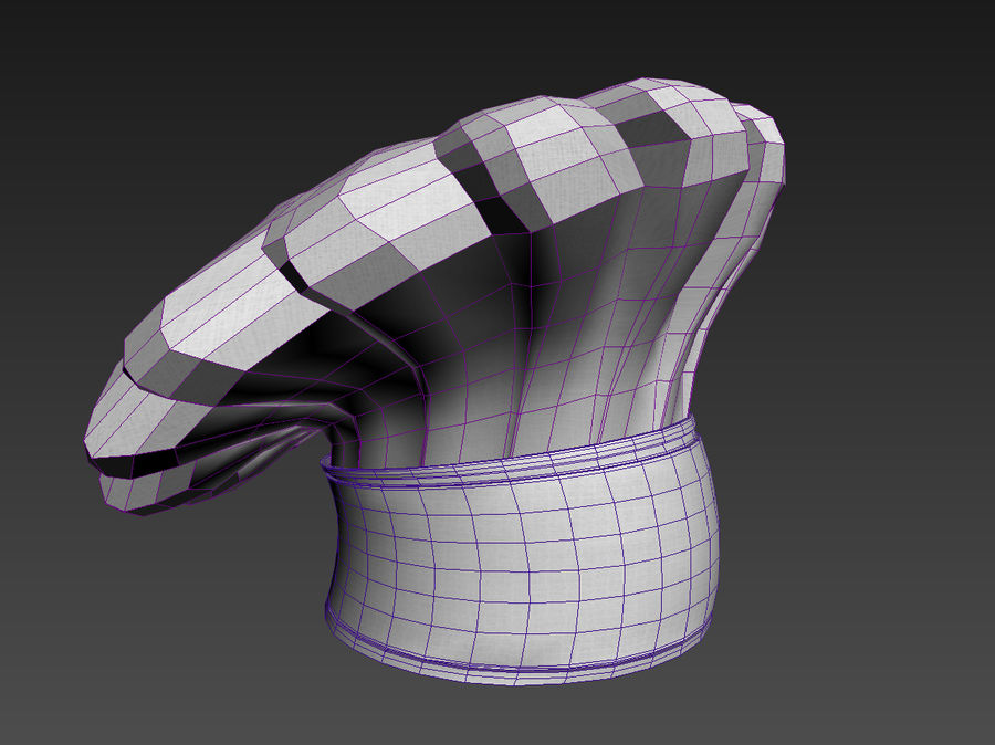 Chef hat royalty-free 3d model - Preview no. 8