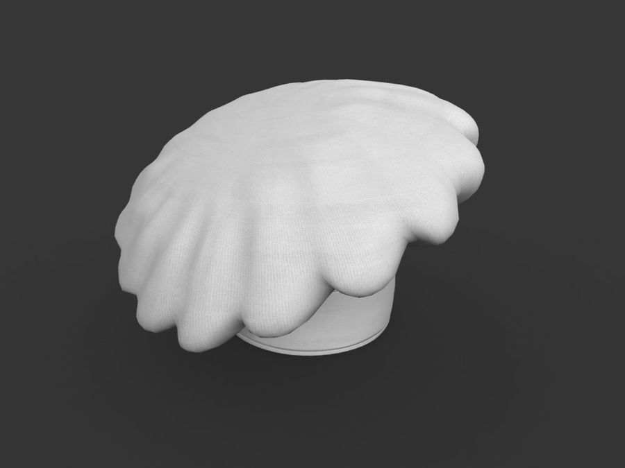 Chef hat royalty-free 3d model - Preview no. 5