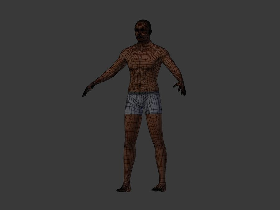Man 3 Textures royalty-free 3d model - Preview no. 8