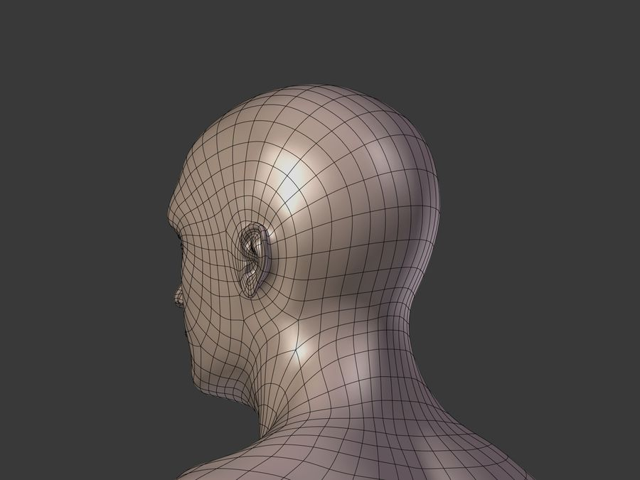 Man 3 Textures royalty-free 3d model - Preview no. 31