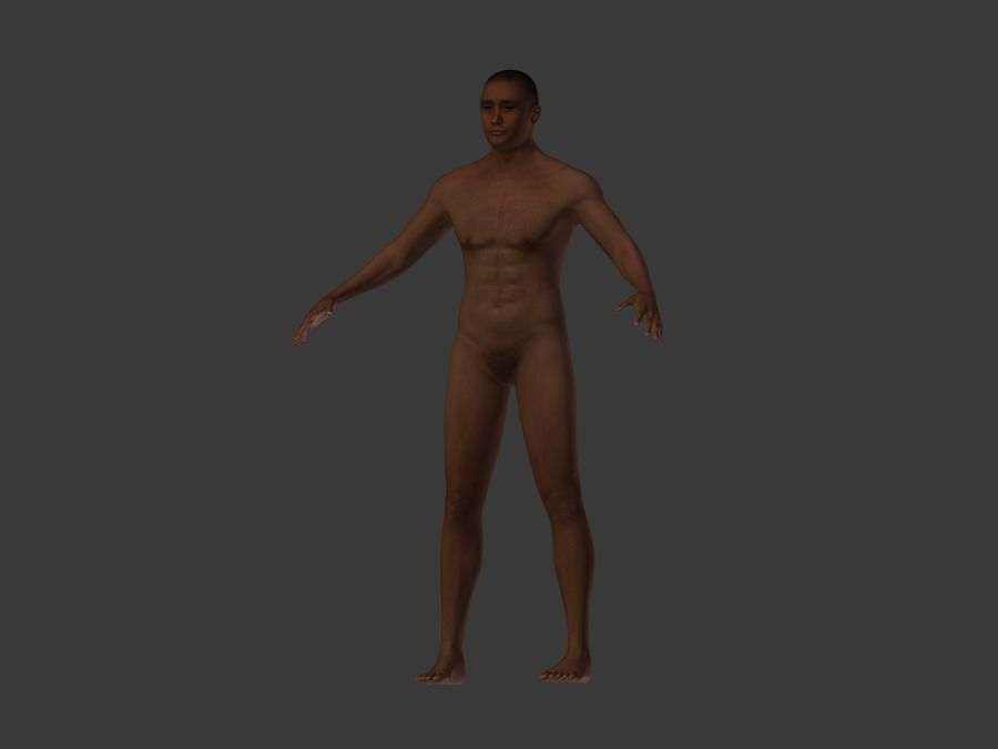Man 3 Textures royalty-free 3d model - Preview no. 11