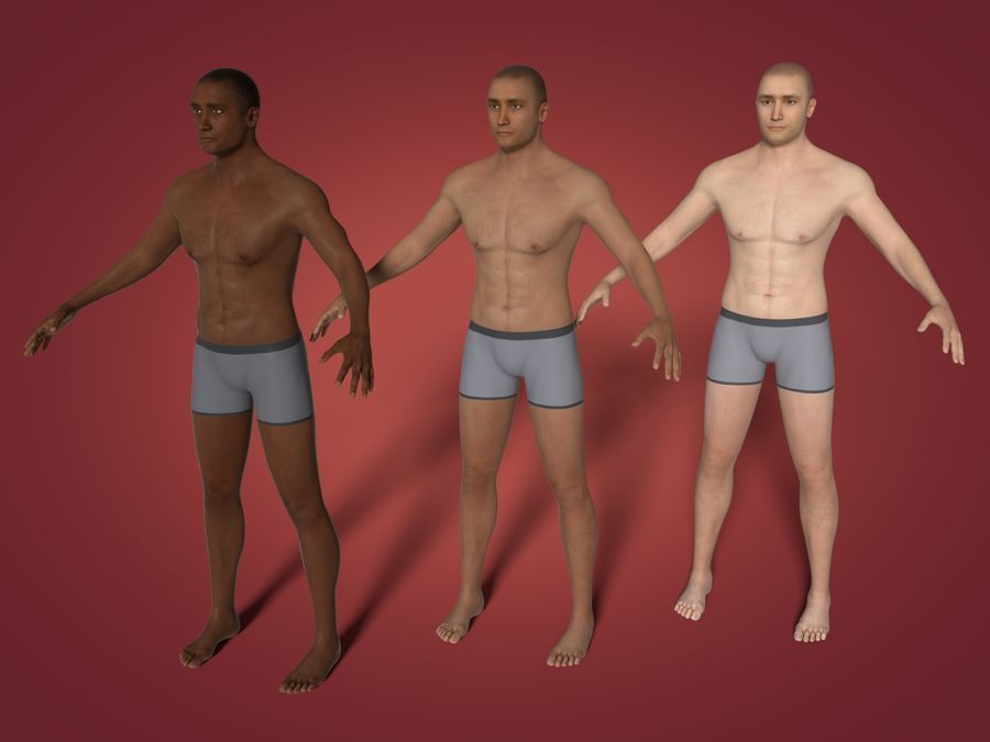 Man 3 Textures royalty-free 3d model - Preview no. 1