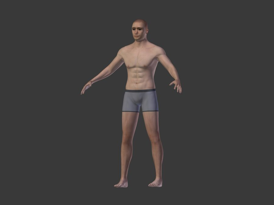Man 3 Textures royalty-free 3d model - Preview no. 10