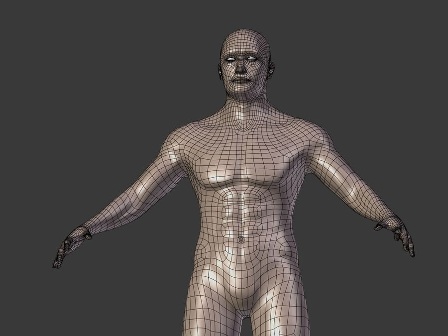 Man 3 Textures royalty-free 3d model - Preview no. 20