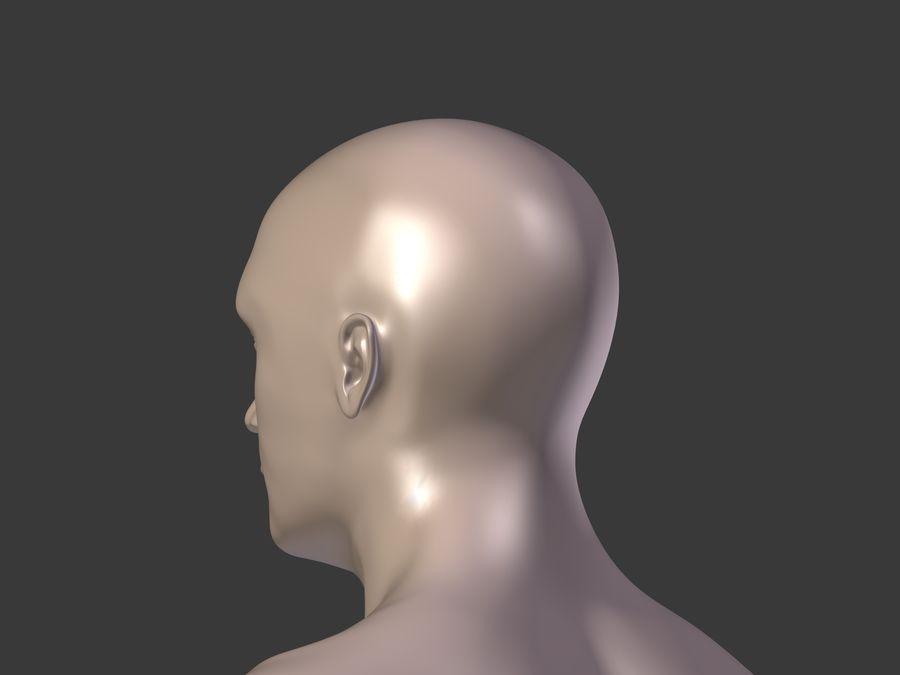 Man 3 Textures royalty-free 3d model - Preview no. 30