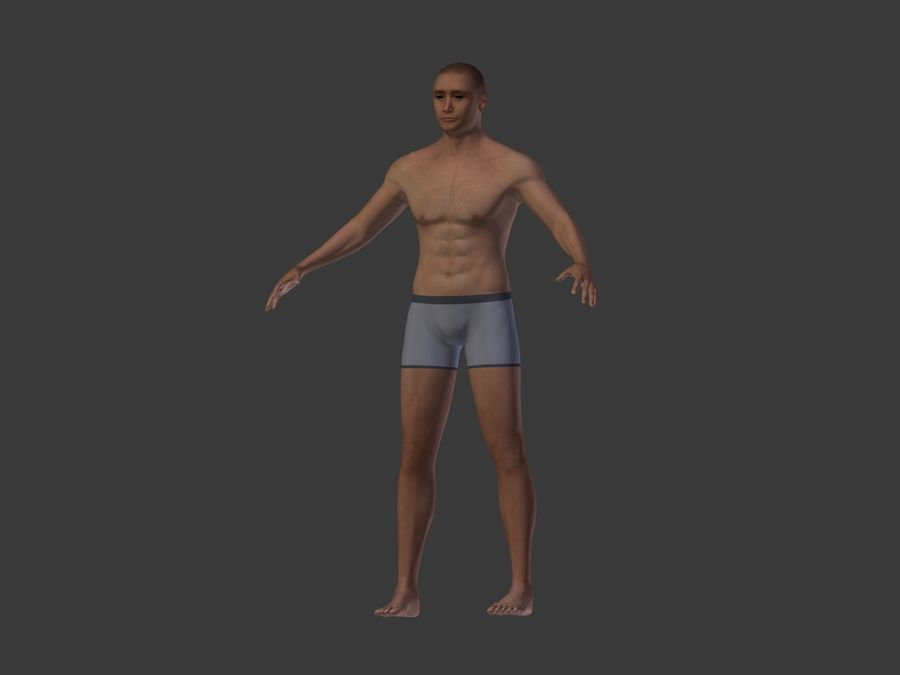 Man 3 Textures royalty-free 3d model - Preview no. 9