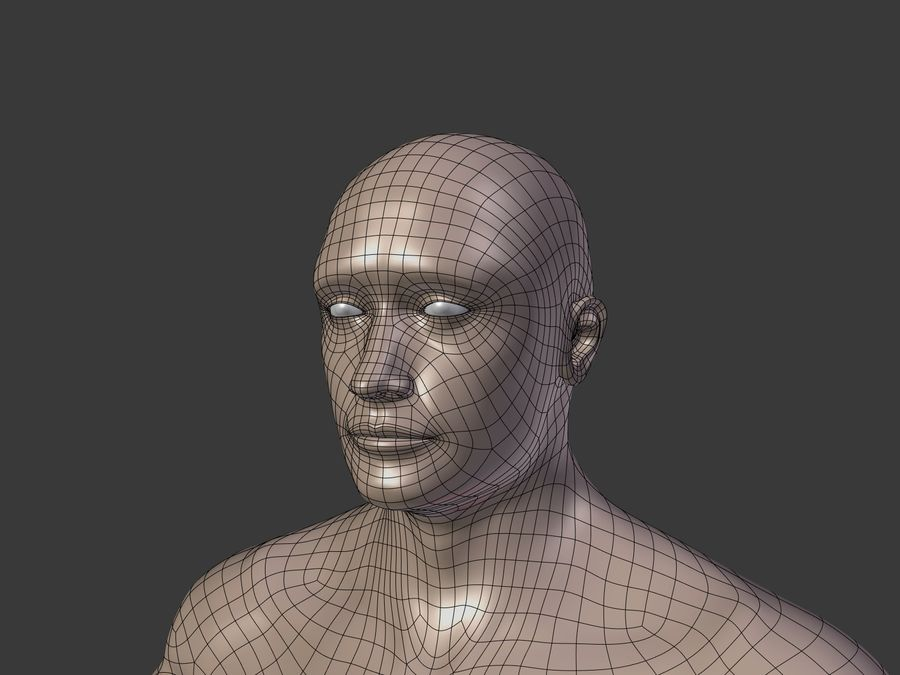 Man 3 Textures royalty-free 3d model - Preview no. 6