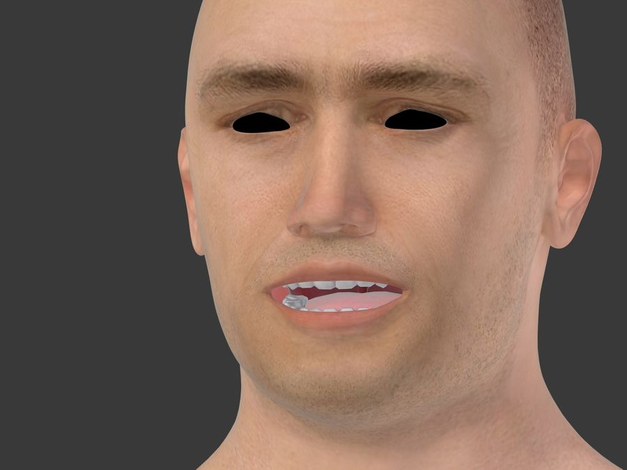 Man 3 Textures royalty-free 3d model - Preview no. 35
