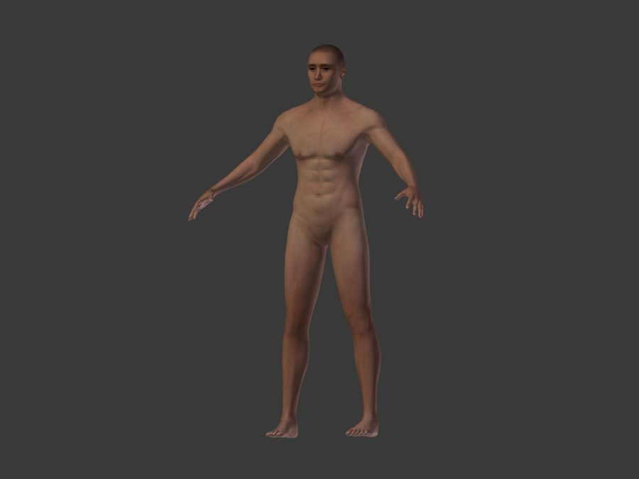 Man 3 Textures royalty-free 3d model - Preview no. 12