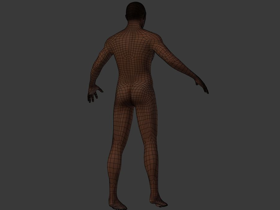 Man 3 Textures royalty-free 3d model - Preview no. 15