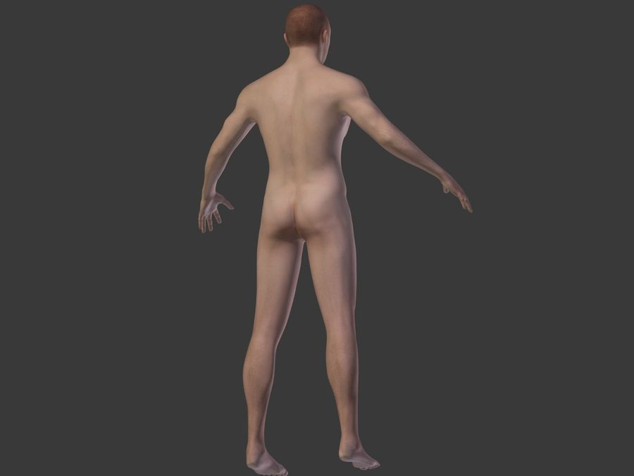Man 3 Textures royalty-free 3d model - Preview no. 17