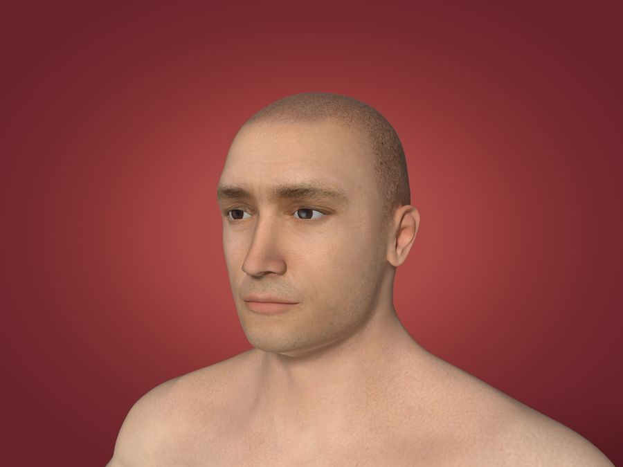 Man 3 Textures royalty-free 3d model - Preview no. 4