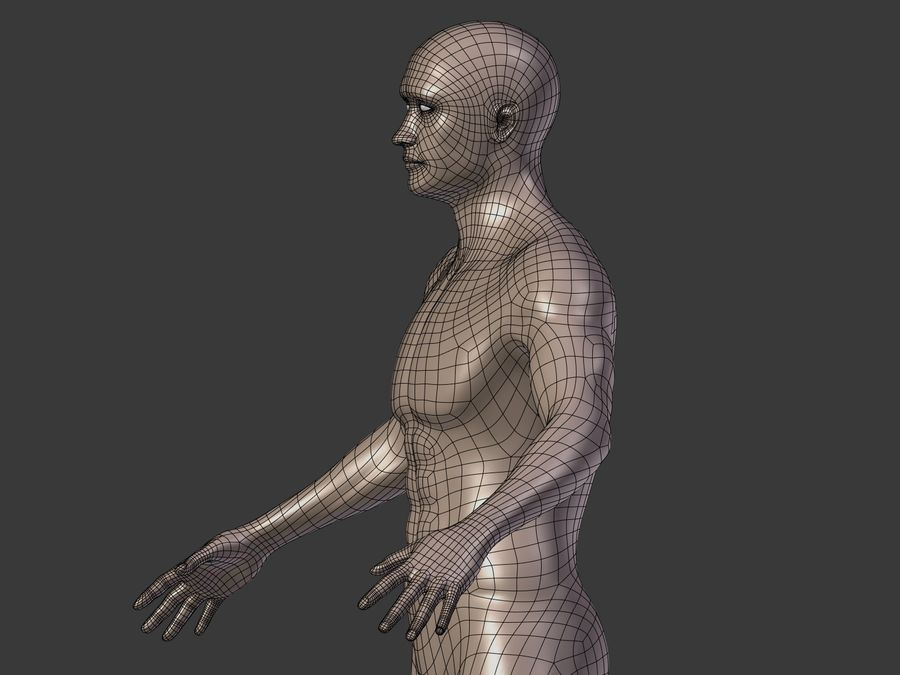 Man 3 Textures royalty-free 3d model - Preview no. 22