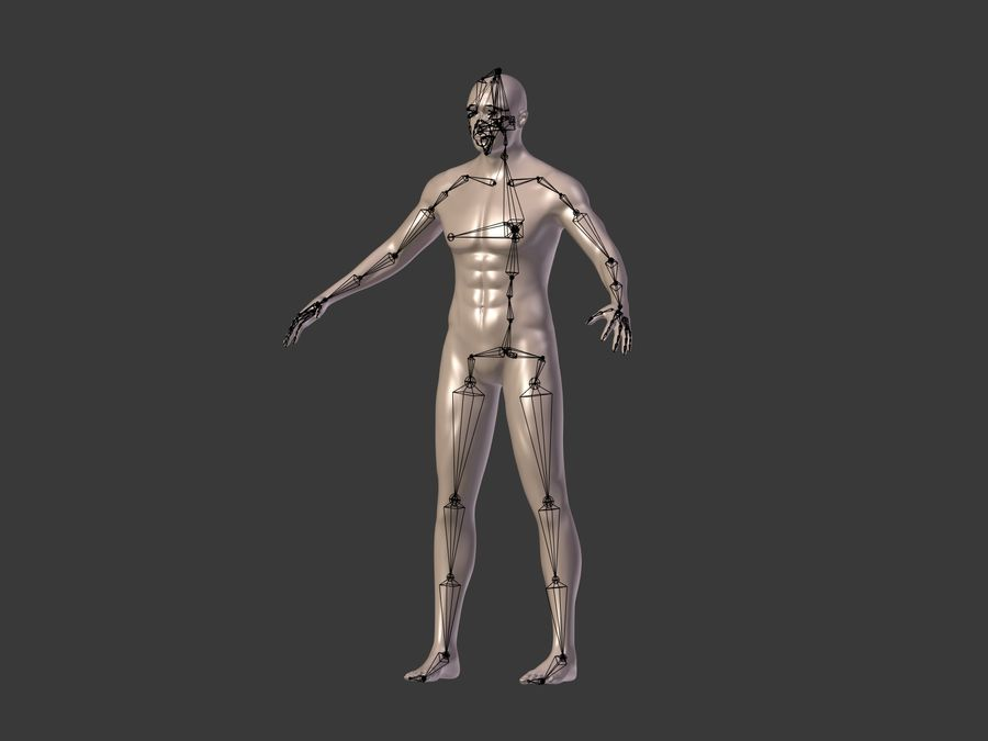 Man 3 Textures royalty-free 3d model - Preview no. 18