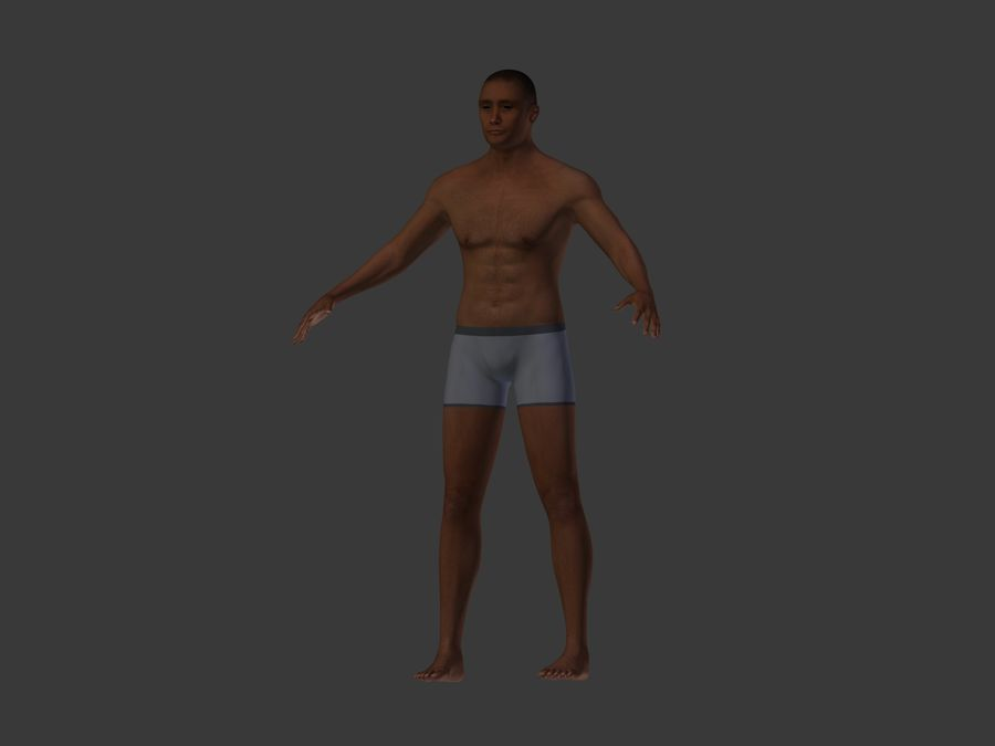 Man 3 Textures royalty-free 3d model - Preview no. 7