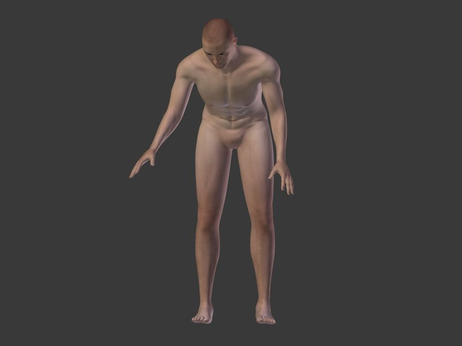 Man 3 Textures royalty-free 3d model - Preview no. 33