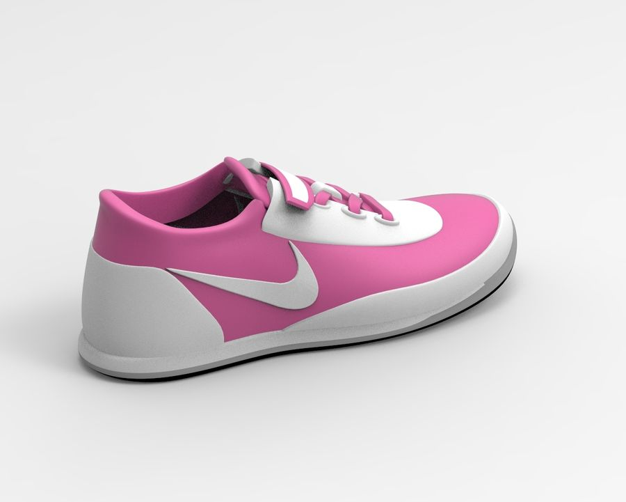 nike shoes royalty-free 3d model - Preview no. 4