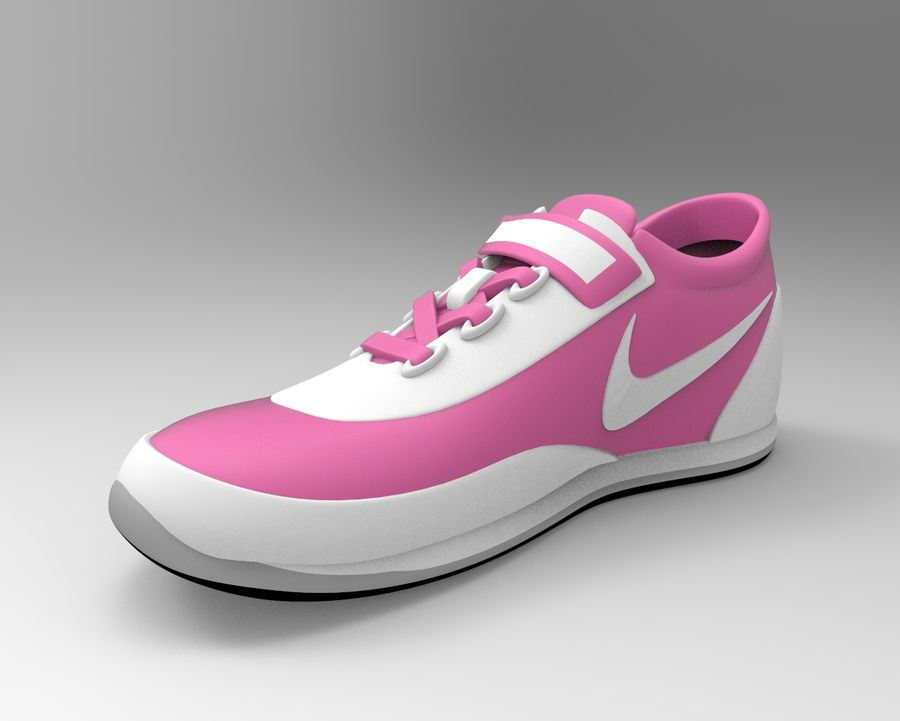 nike shoes royalty-free 3d model - Preview no. 1