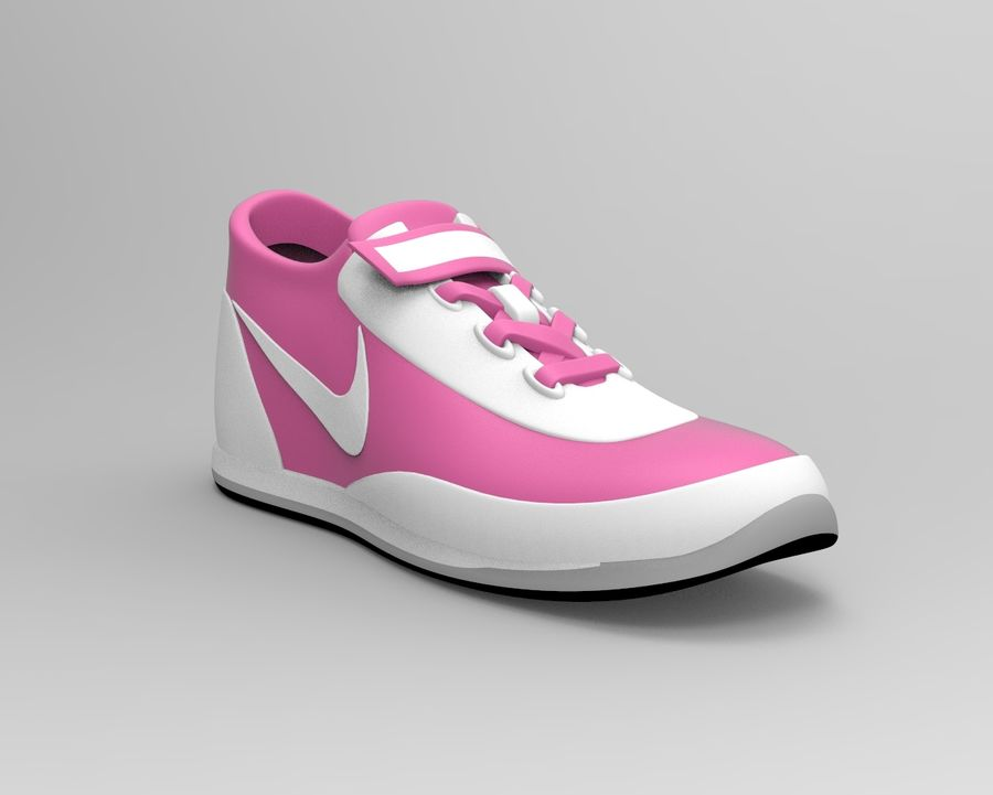 nike shoes royalty-free 3d model - Preview no. 7