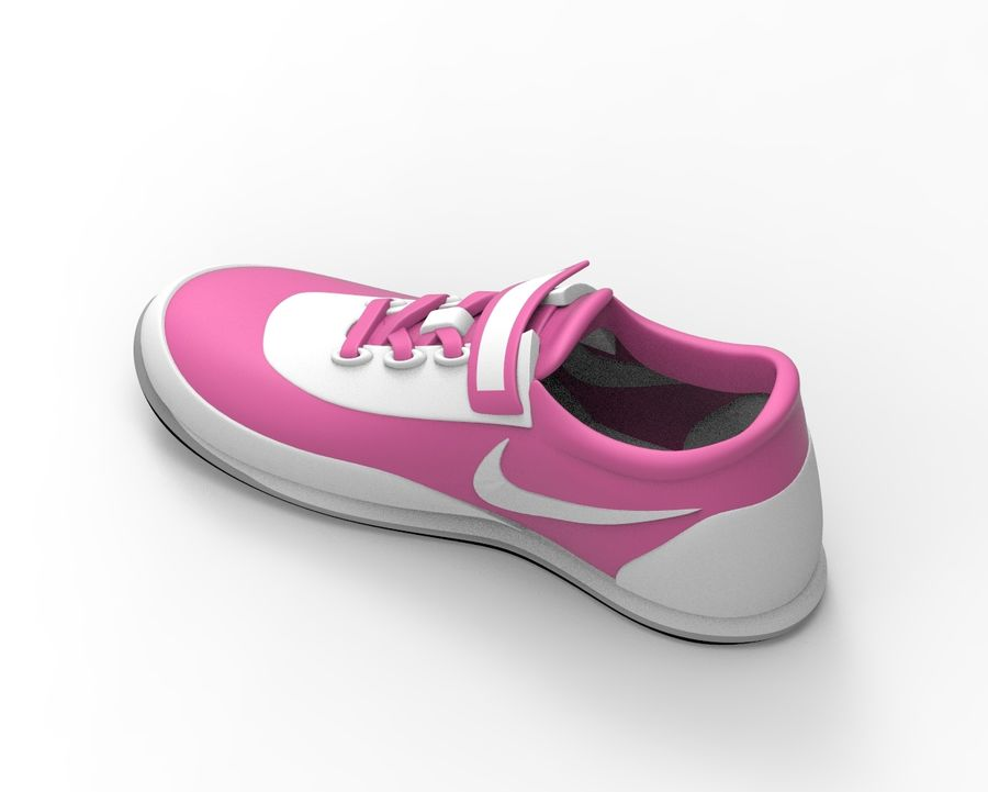 nike shoes royalty-free 3d model - Preview no. 3