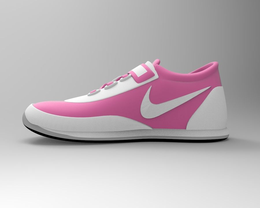 nike shoes royalty-free 3d model - Preview no. 2