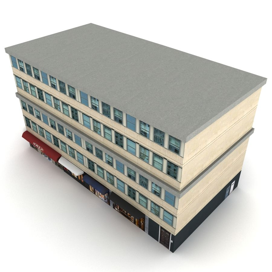 City Building 1 royalty-free 3d model - Preview no. 2