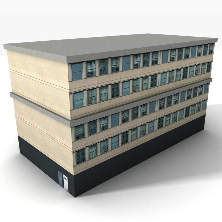 City Building 1 royalty-free 3d model - Preview no. 3
