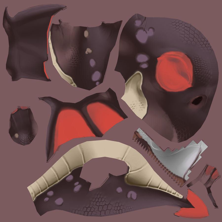 Drachen royalty-free 3d model - Preview no. 7