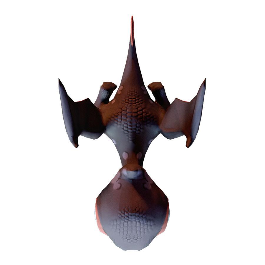 Drachen royalty-free 3d model - Preview no. 4