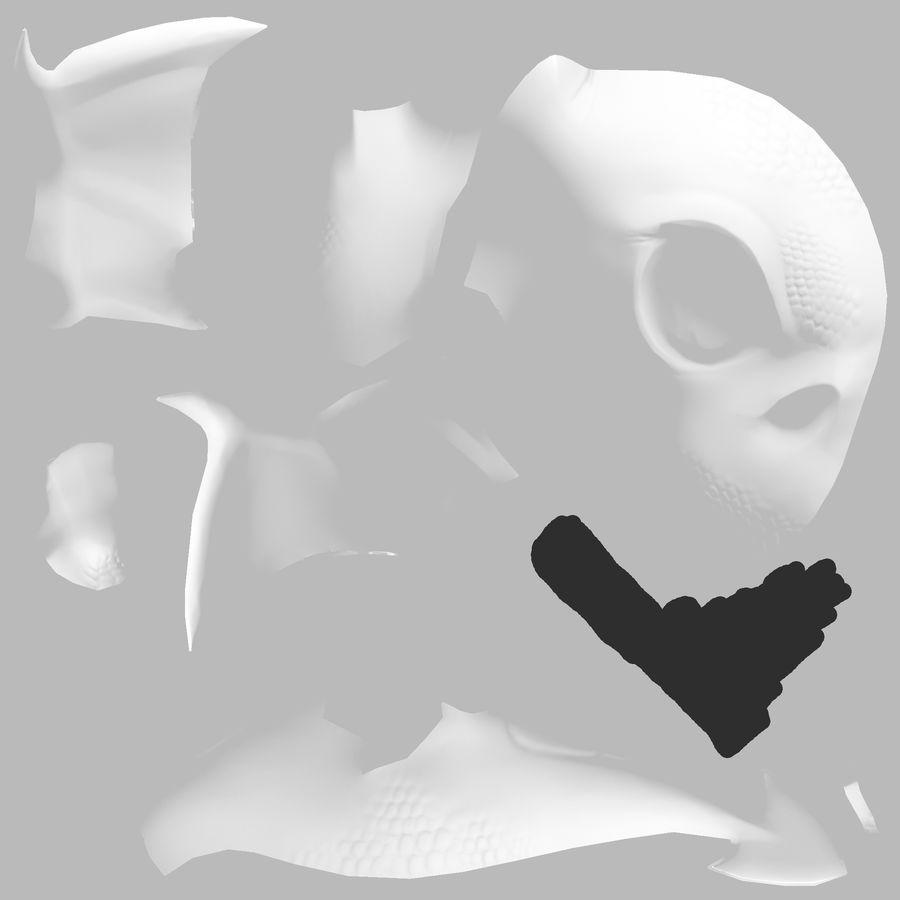 Drachen royalty-free 3d model - Preview no. 9