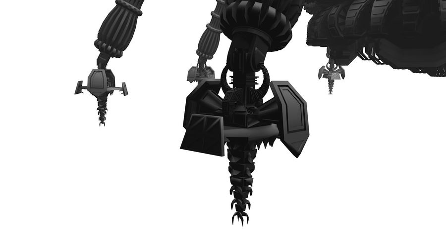 SciFi Robot Spacecraft Spider royalty-free 3d model - Preview no. 8