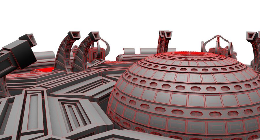 SciFi Robot Spacecraft Spider royalty-free 3d model - Preview no. 12