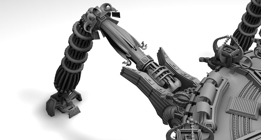 SciFi Robot Spacecraft Spider royalty-free 3d model - Preview no. 2