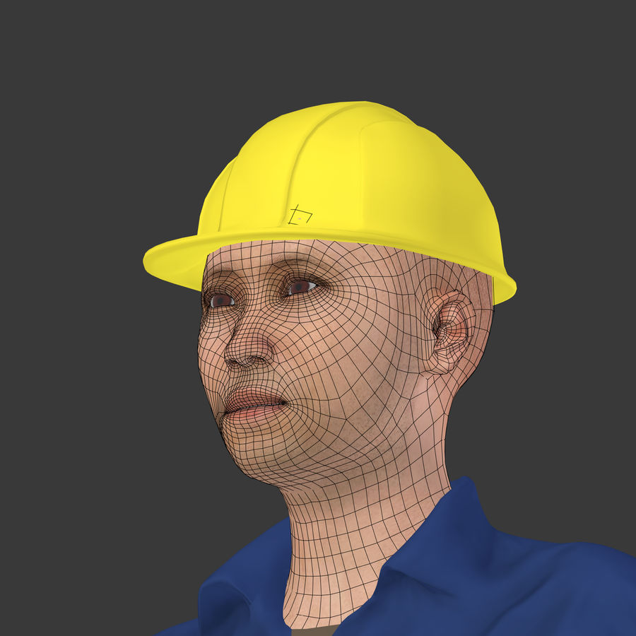 Construction Worker royalty-free 3d model - Preview no. 10