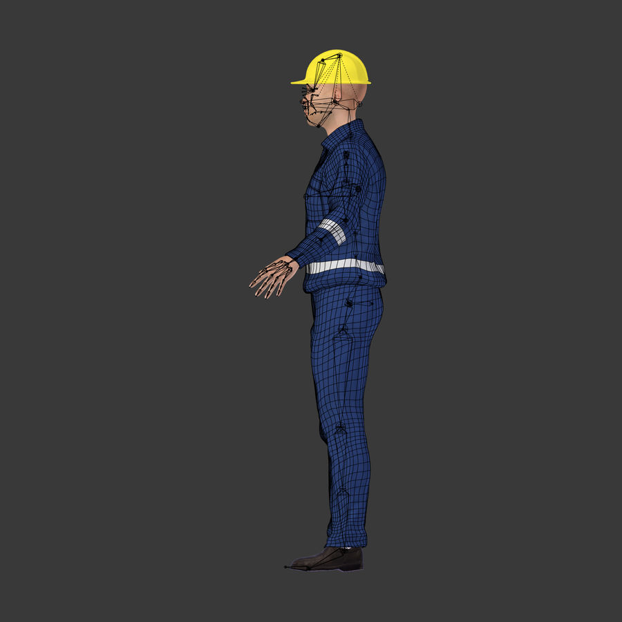 Construction Worker royalty-free 3d model - Preview no. 8