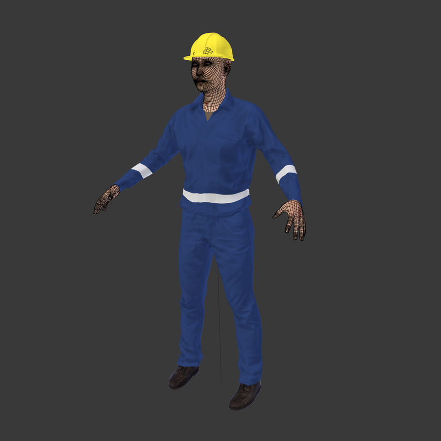 Construction Worker royalty-free 3d model - Preview no. 4