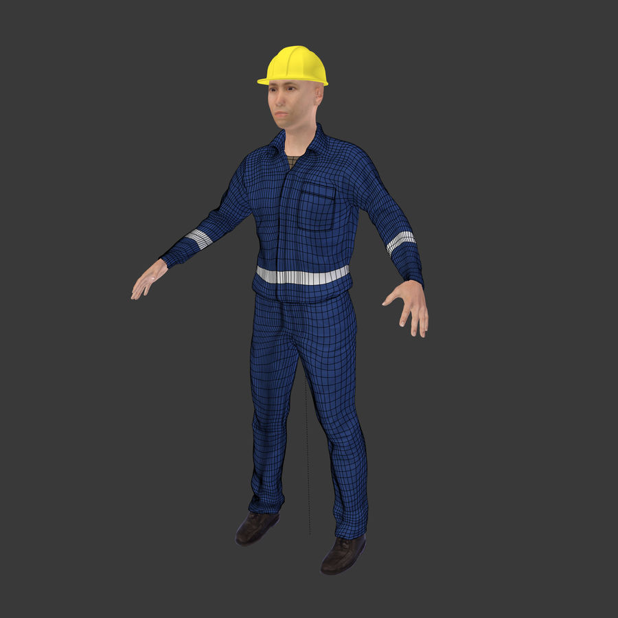 Construction Worker royalty-free 3d model - Preview no. 3