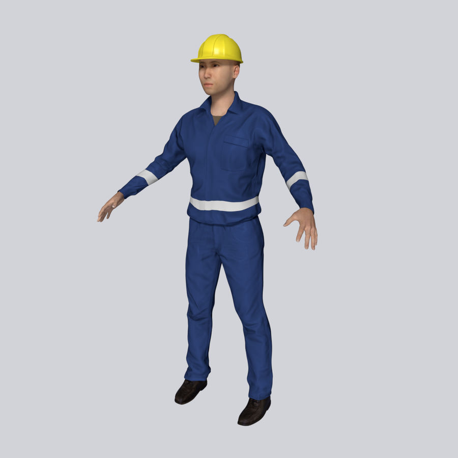 Construction Worker royalty-free 3d model - Preview no. 1
