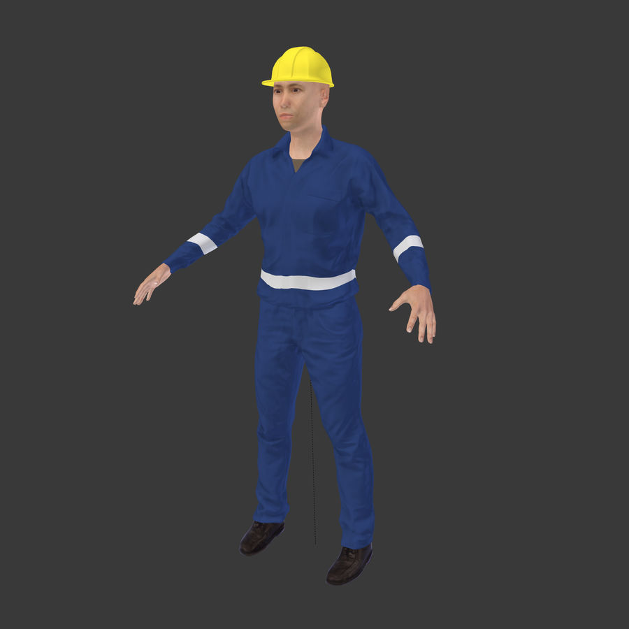 Construction Worker royalty-free 3d model - Preview no. 2