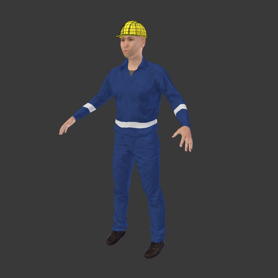 Construction Worker royalty-free 3d model - Preview no. 5