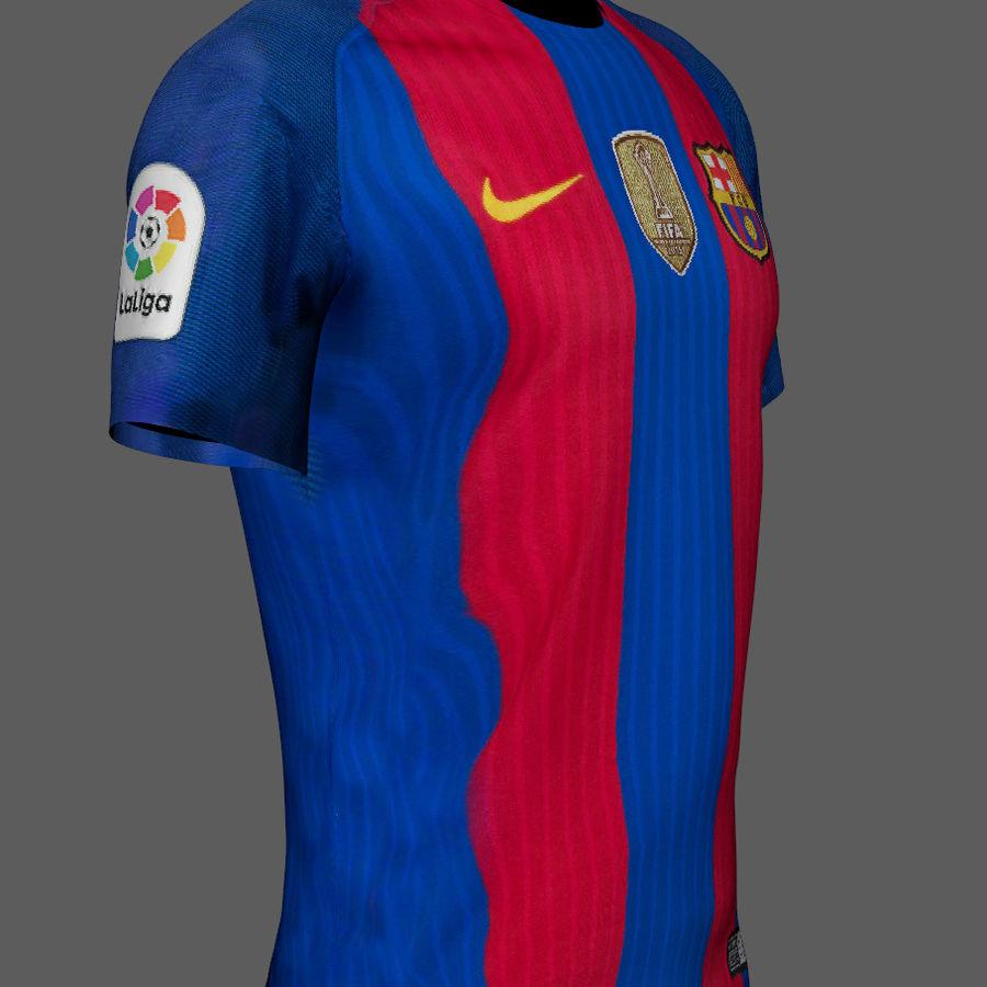 Fußball Trikot FC Barcelona royalty-free 3d model - Preview no. 5