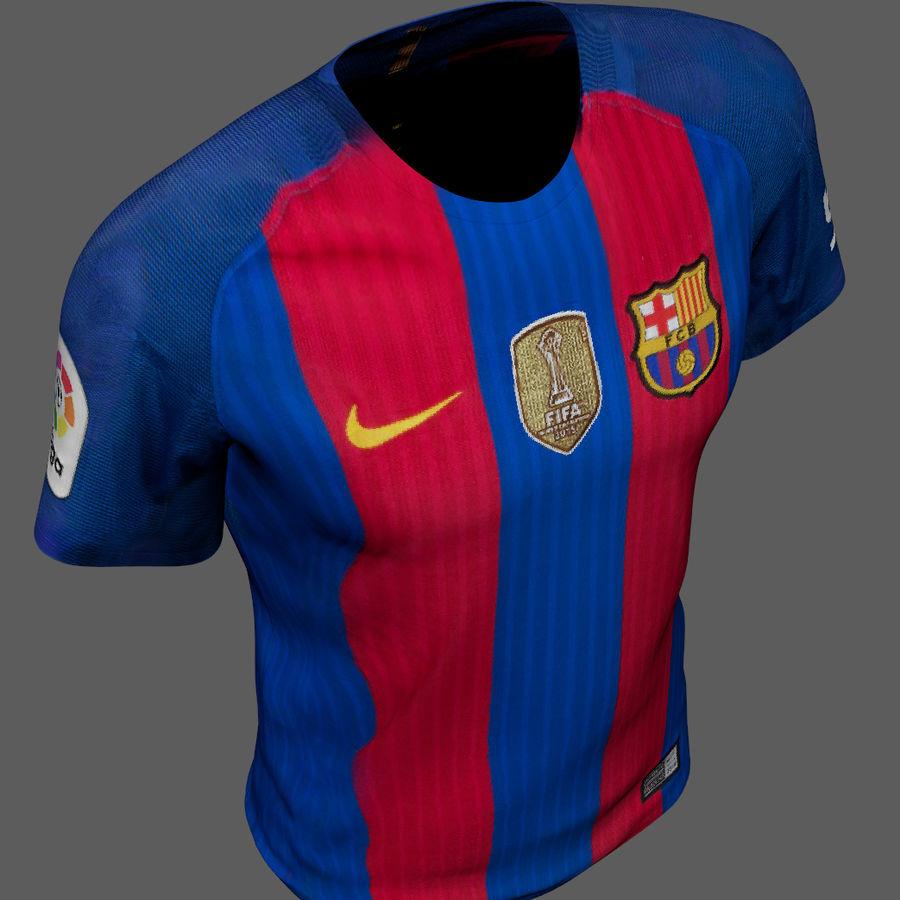 Fußball Trikot FC Barcelona royalty-free 3d model - Preview no. 6