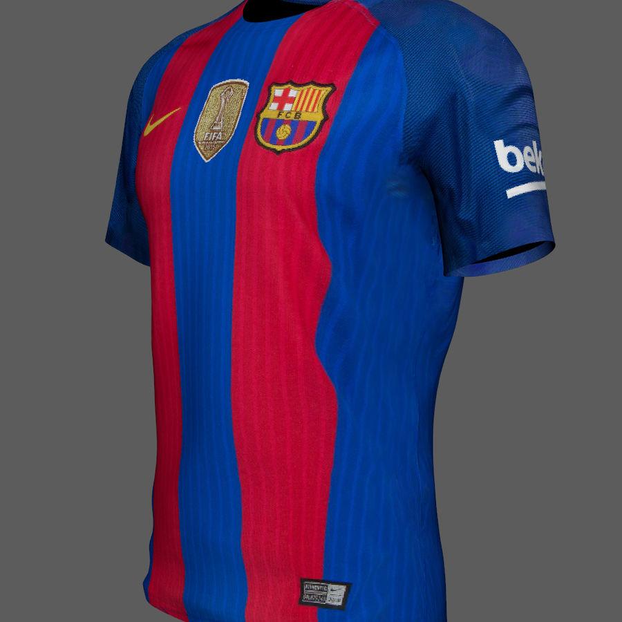 Fußball Trikot FC Barcelona royalty-free 3d model - Preview no. 3