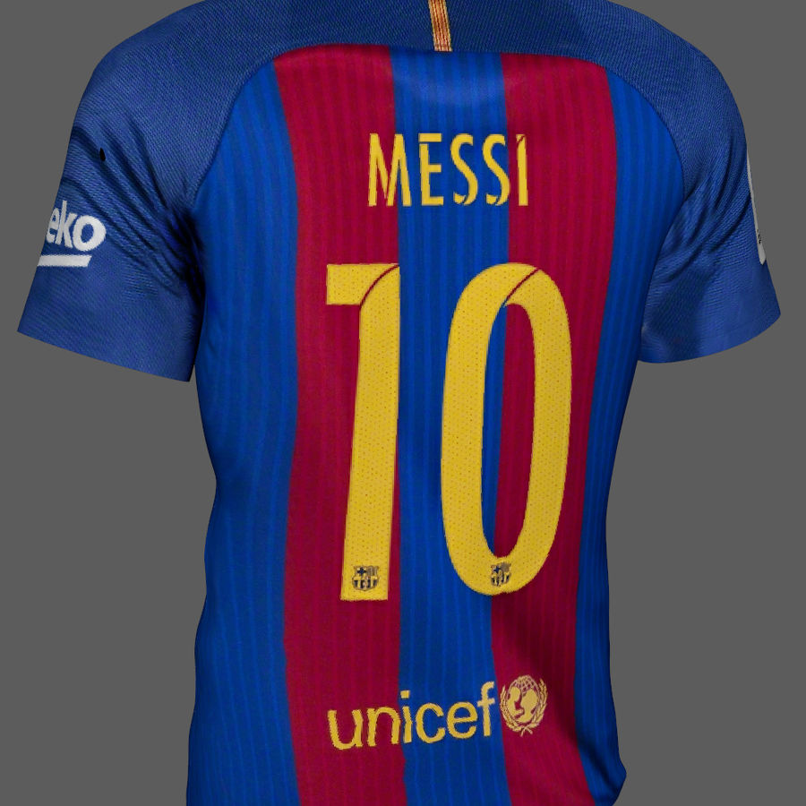 Fußball Trikot FC Barcelona royalty-free 3d model - Preview no. 4