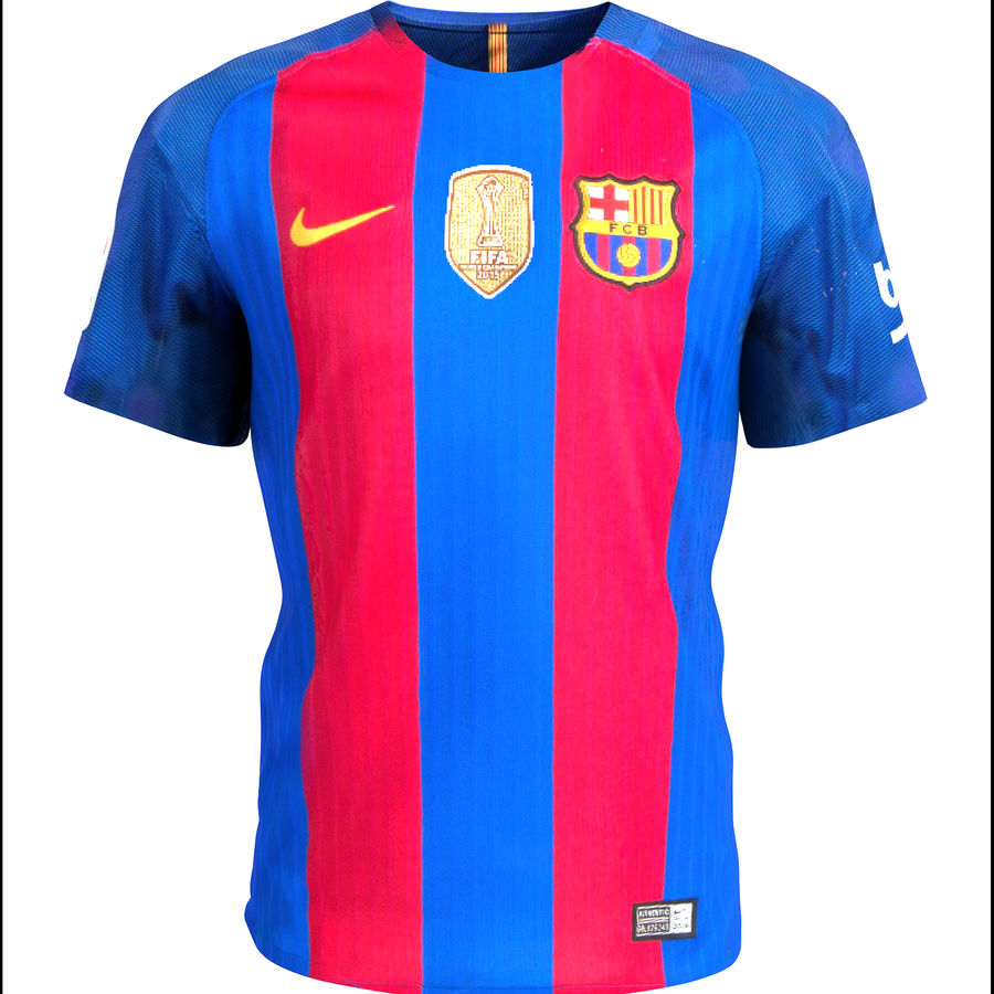 Fußball Trikot FC Barcelona royalty-free 3d model - Preview no. 2