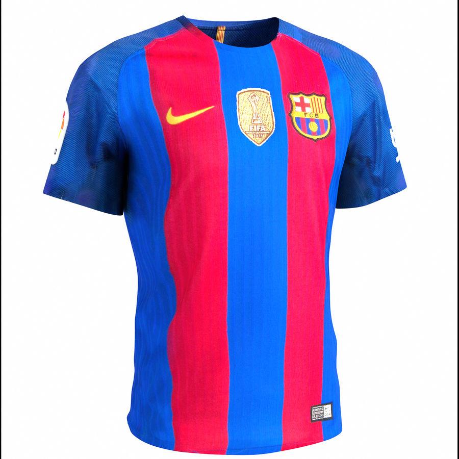 Fußball Trikot FC Barcelona royalty-free 3d model - Preview no. 1