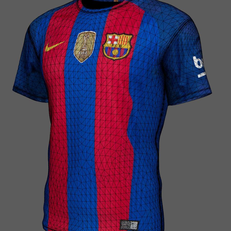 Fußball Trikot FC Barcelona royalty-free 3d model - Preview no. 9