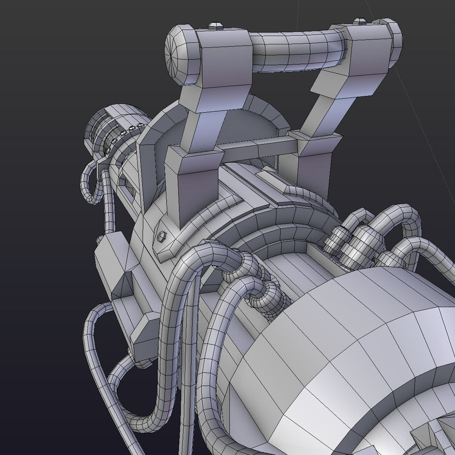Steampunk royalty-free 3d model - Preview no. 8
