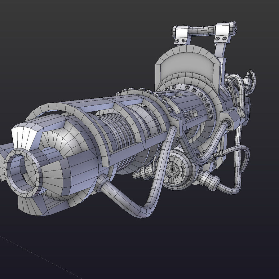 Steampunk royalty-free 3d model - Preview no. 4